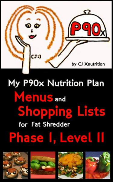 My P90x Nutrition Plan: Menus and Shopping Lists for Fat Shredder, Phase 1, Level II