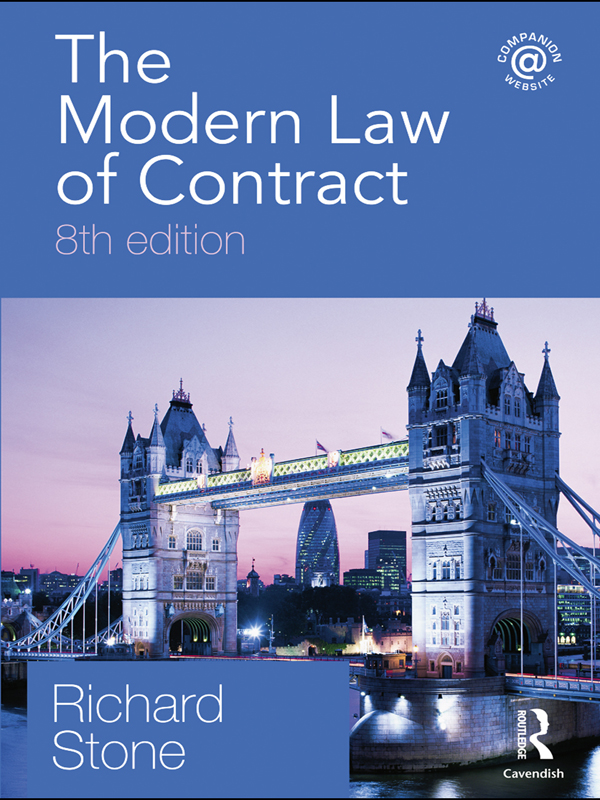 The Modern Law of Contract By: Richard Stone