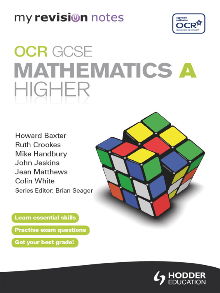 My Revision Notes: OCR GCSE Specification A Maths Higher