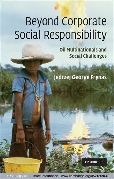 Beyond Corporate Social Responsibility Oil Multinationals and Social Challenges