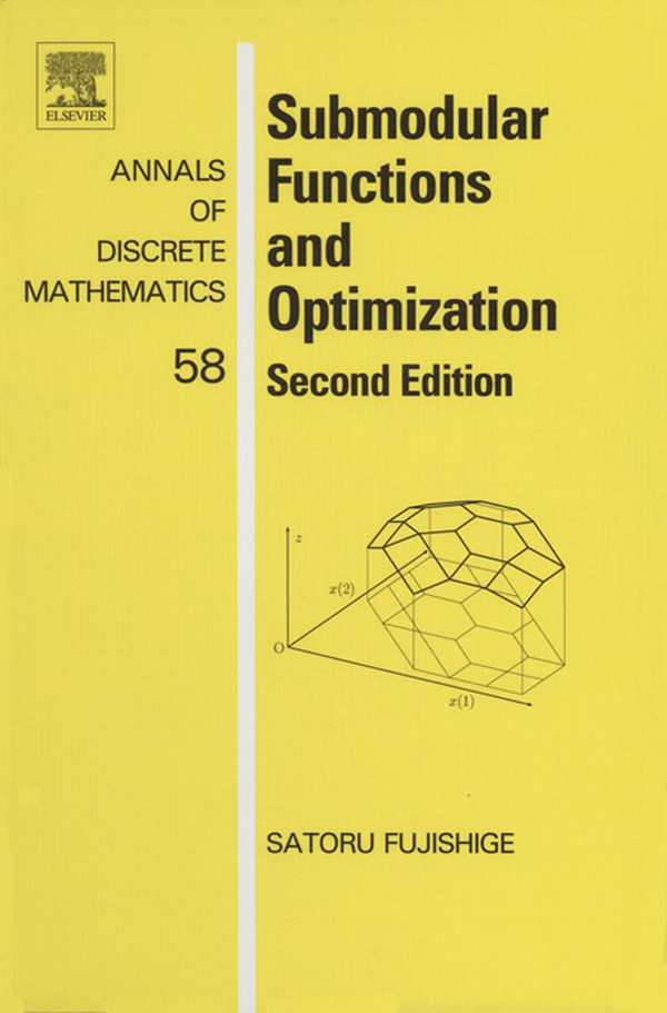 Submodular Functions and Optimization Second Edition