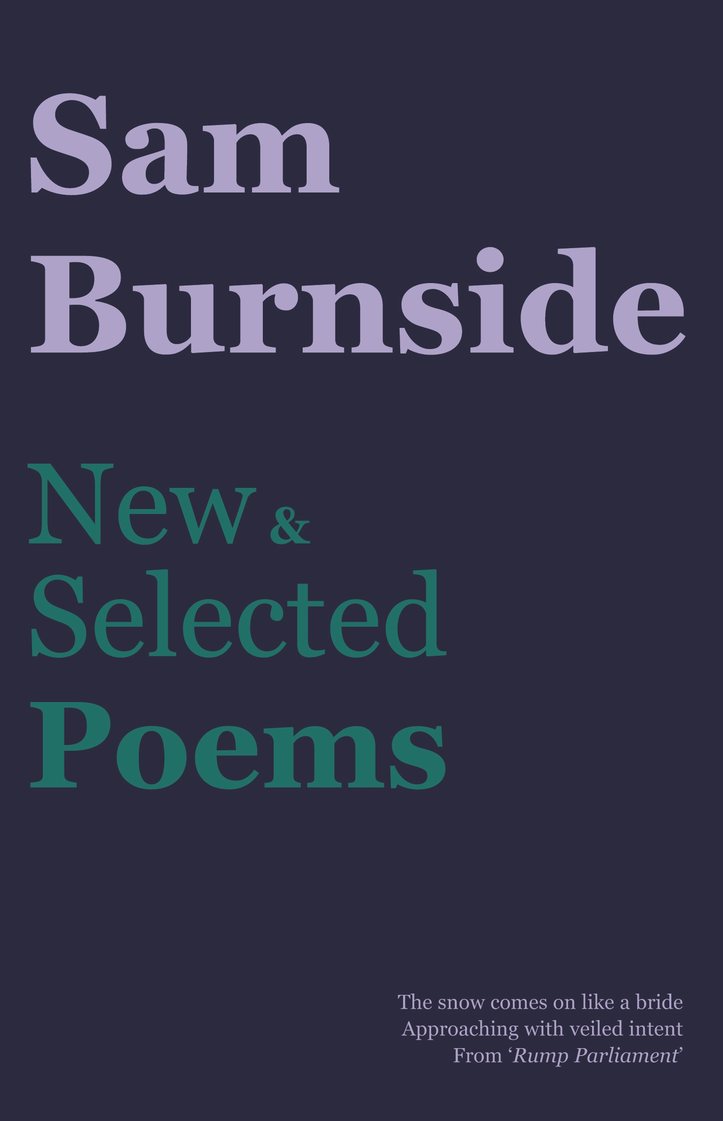 Book Cover: Sam Burnside: New and Selcted Poems