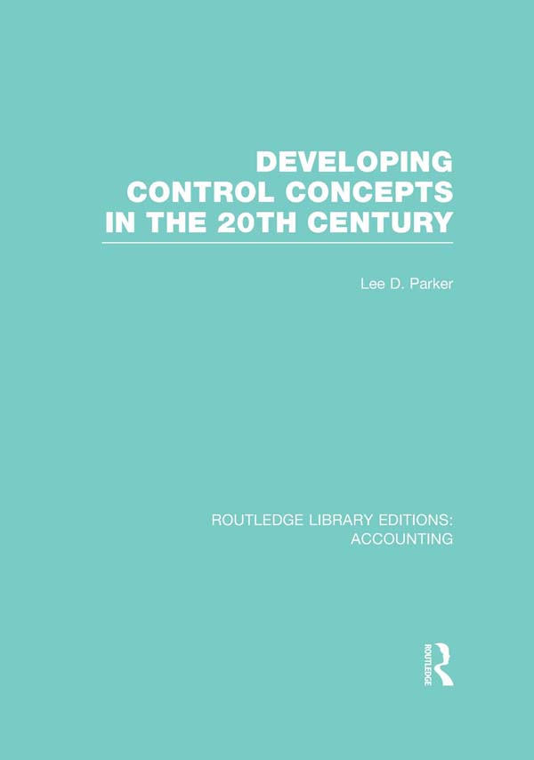 Developing control concepts in the 20th century