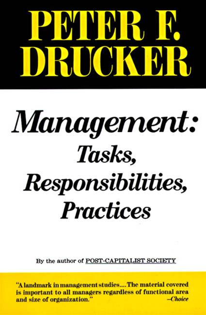Management By: Peter F. Drucker