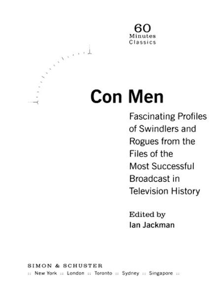Con Men By: 60 Minutes,Mike Wallace