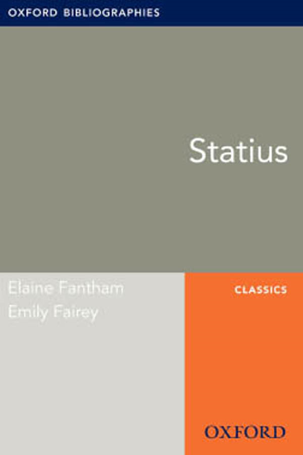 Statius: Oxford Bibliographies Online Research Guide