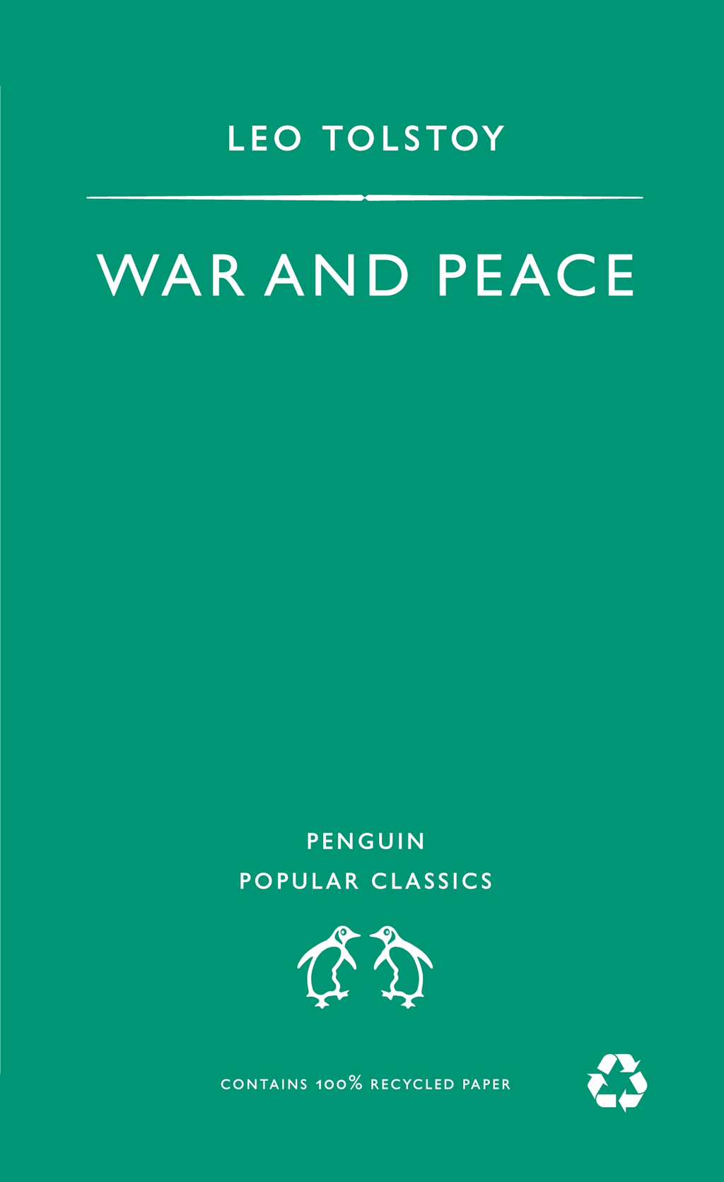 War And Peace By: Leo Tolstoy