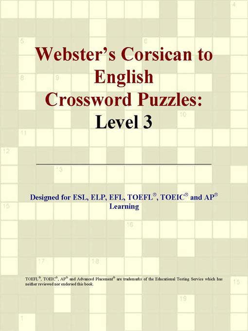 ICON Group International - Webster's Corsican to English Crossword Puzzles: Level 3