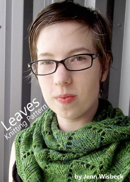 Leaves Shawl Lace Knitting Pattern By: Jenn Wisbeck