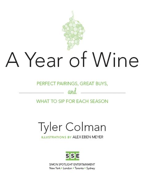 A Year of Wine By: Tyler Colman