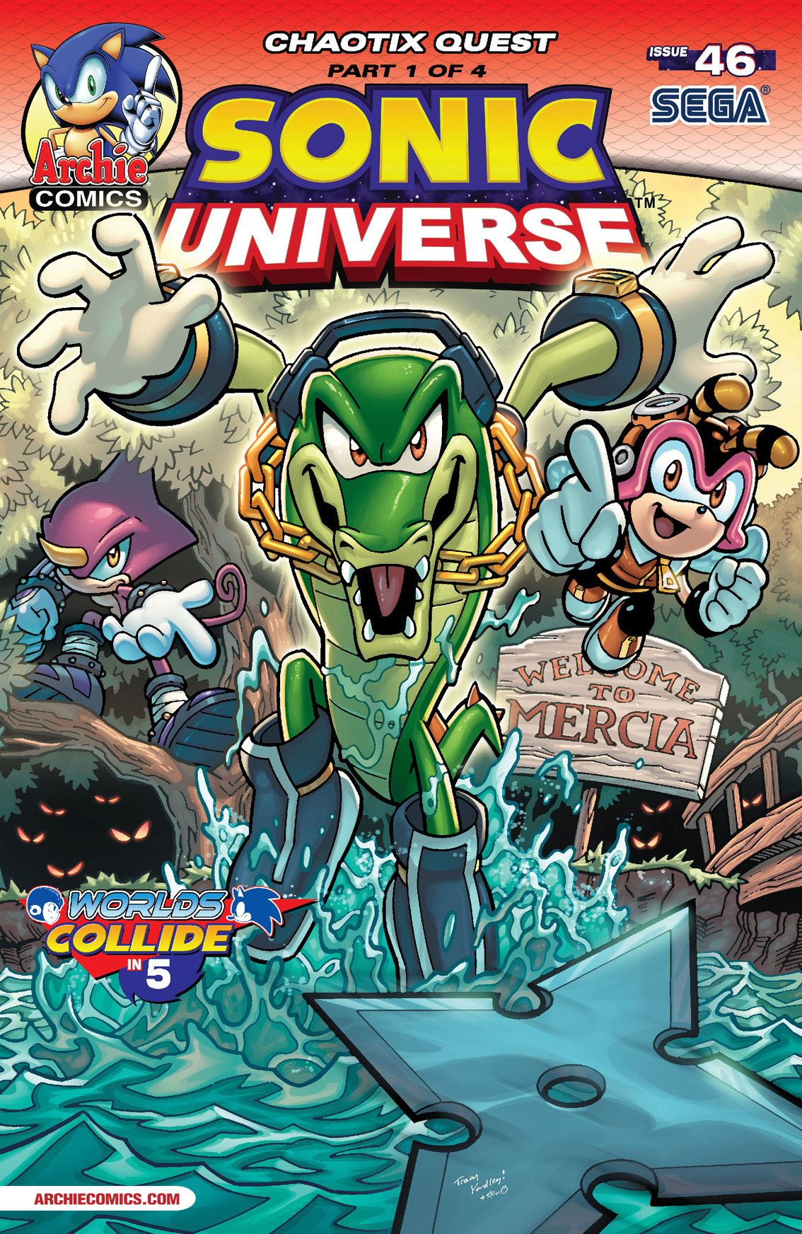 Sonic Universe #46 By: Ian Flynn, Tracy Yardley!, Jim Amash, Jack Morelli, Matt Herms