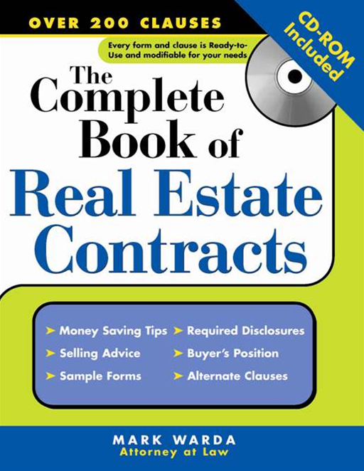 Complete Book of Real Estate Contracts