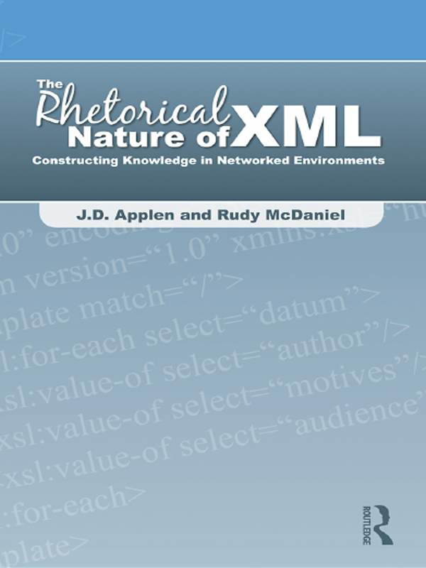 The Rhetorical Nature of XML