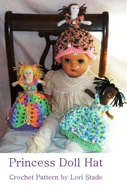 Toddler's Princess Doll Hat Crochet Pattern