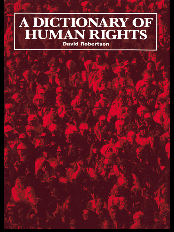 Dictionary of Human Rights
