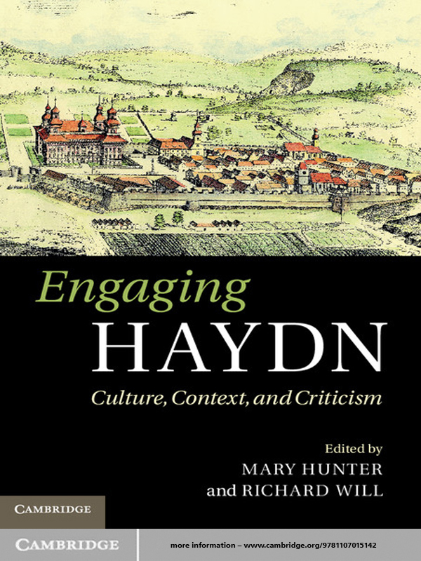 Engaging Haydn Culture,  Context,  and Criticism