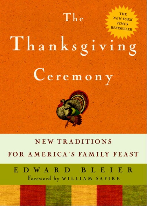 New Traditions For America's Family Feast By Edward Bleier
