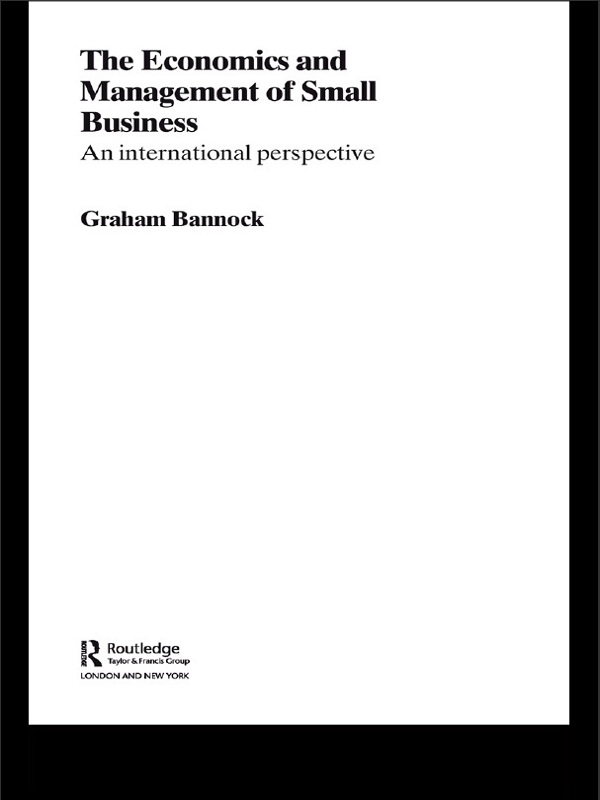 The Economics and Management of Small Business An International Perspective