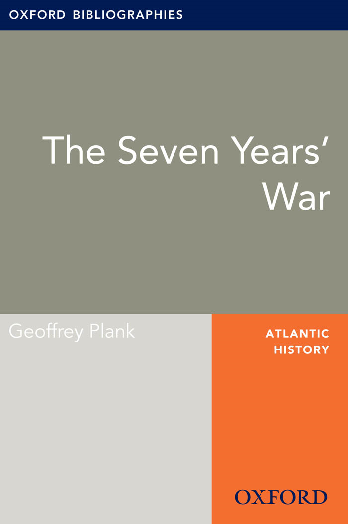 Seven Years� War: Oxford Bibliographies Online Research Guide