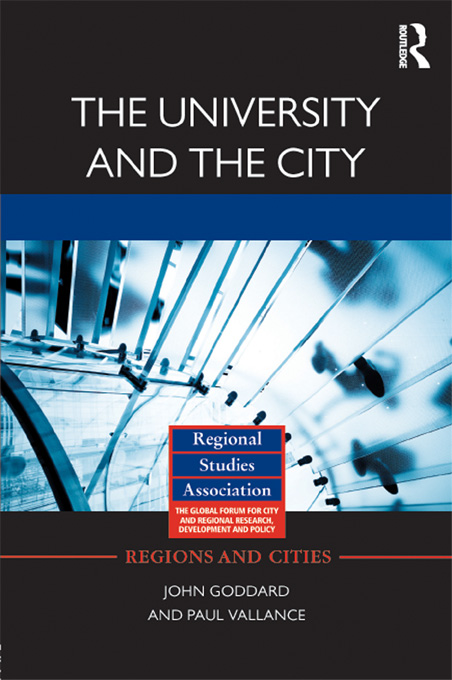 The University and the City By: John Goddard,Paul Vallance