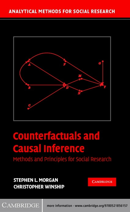 Counterfactuals and Causal Inference Methods and Principles for Social Research