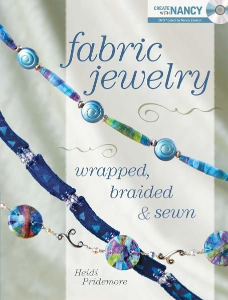 Fabric Jewelry Wrapped, Braided and Sewn