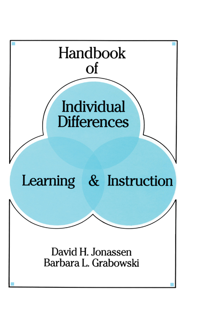 Handbook of Individual Differences  Learning  and Instruction