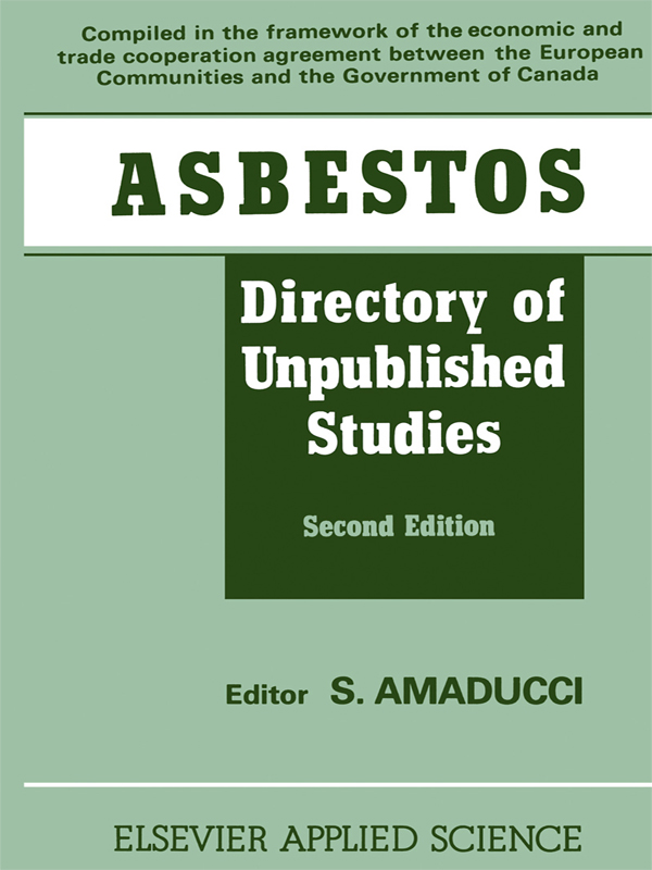 Asbestos Directory of Unpublished Studies