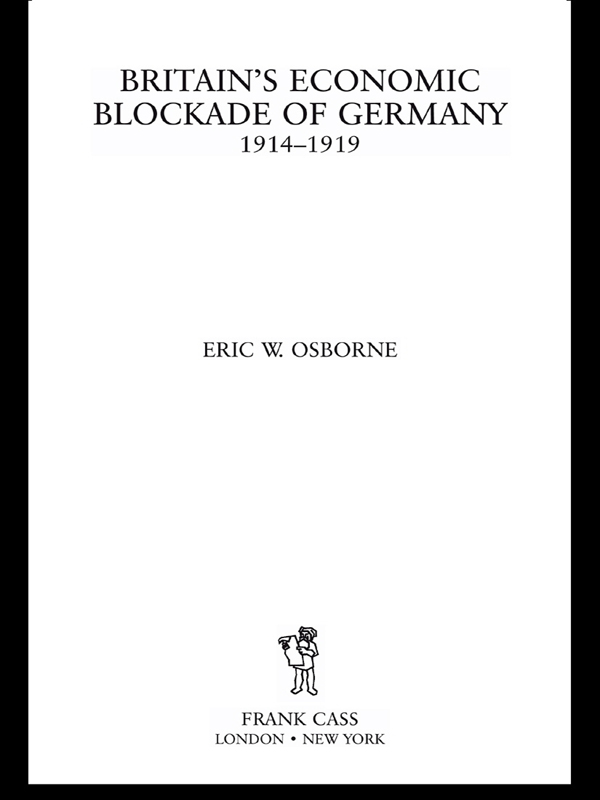 Britain's Economic Blockade of Germany, 1914-1919