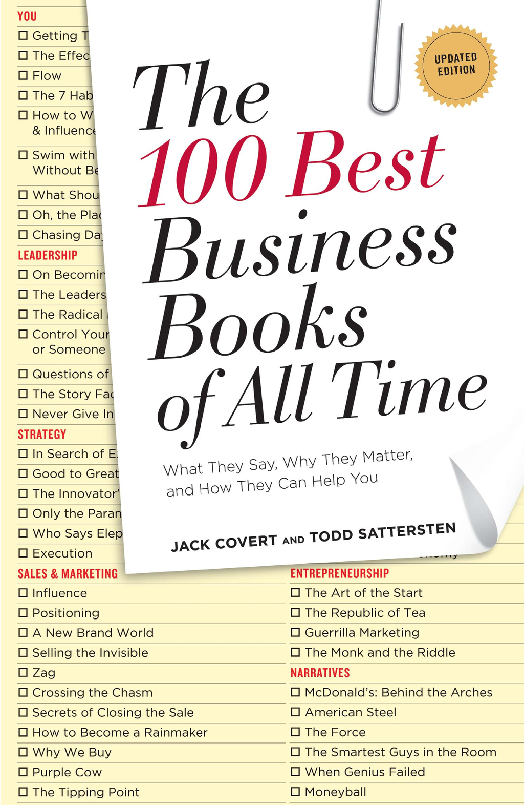 The 100 Best Business Books of All Time By: Jack Covert,Todd Sattersten