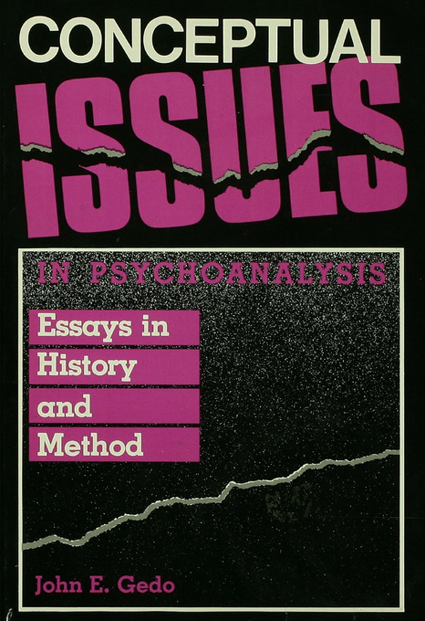 Conceptual Issues in Psychoanalysis