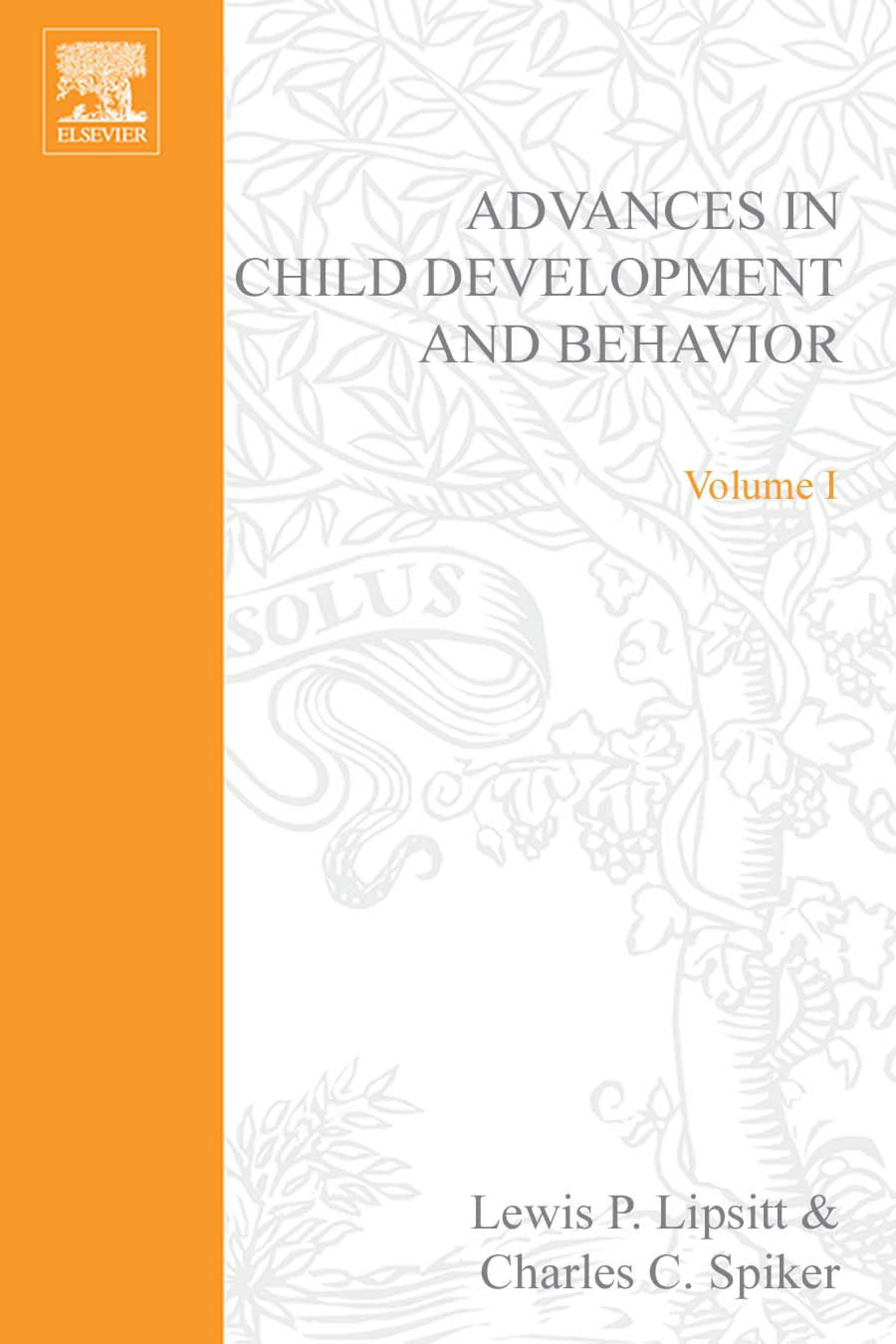 ADV IN CHILD DEVELOPMENT &BEHAVIOR V 1