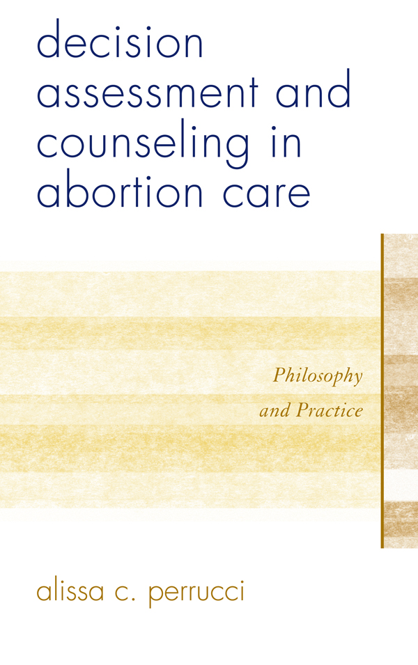 Decision Assessment and Counseling in Abortion Care