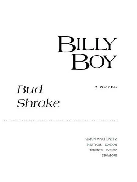 Billy Boy By: Bud Shrake