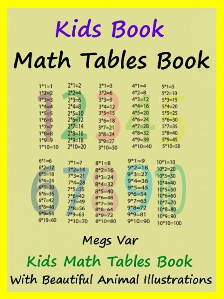 Kids Math Tables Book: Teach Math Tables To Your Kids By: Megs Var