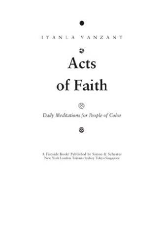 Acts of Faith By: Iyanla Vanzant