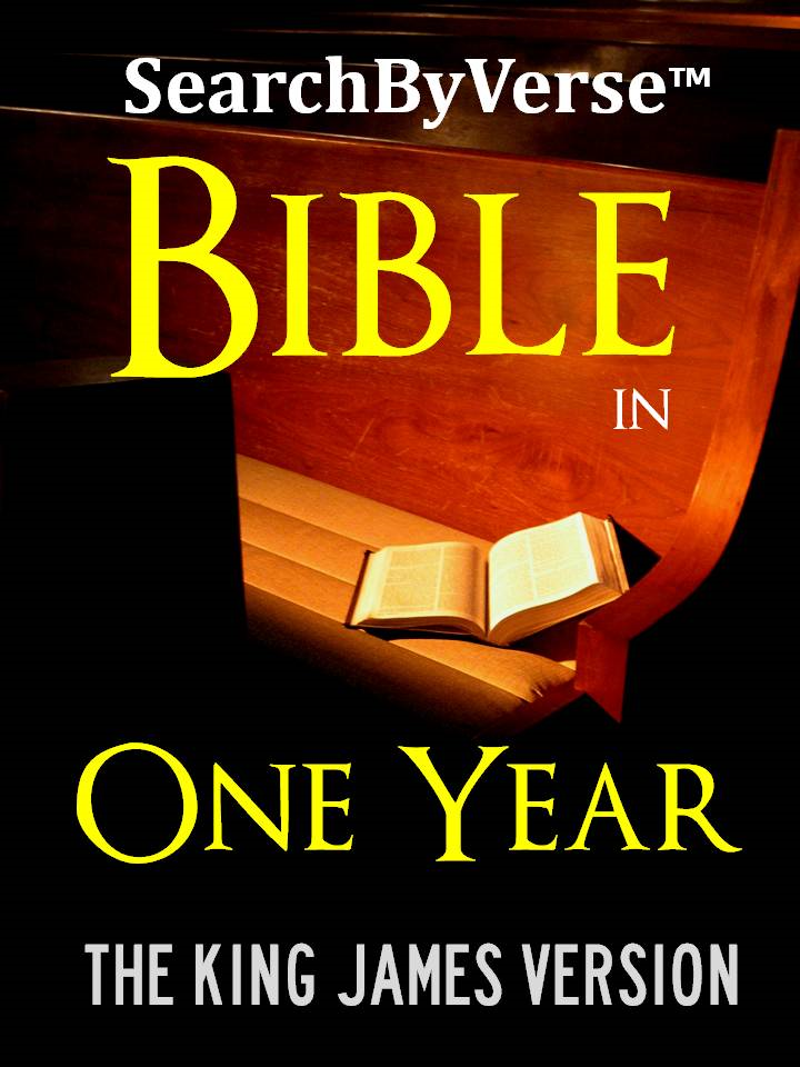 The BIBLE IN ONE YEAR: The SearchByVerse™ DAILY READING HOLY BIBLE FOR KOBO