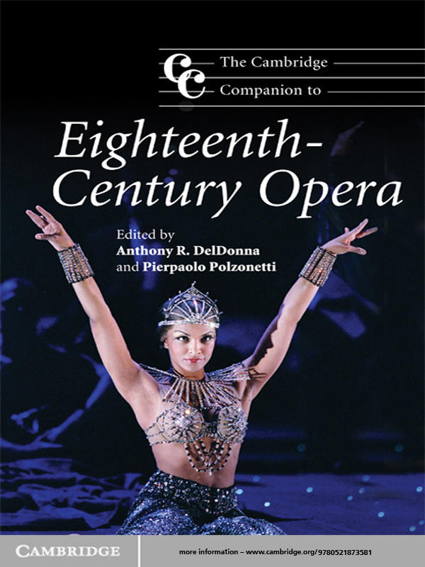 The Cambridge Companion to Eighteenth-Century Opera