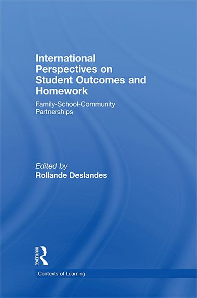 download International Perspectives on Student Outcomes and Homework: Family-School-Community Partnerships book