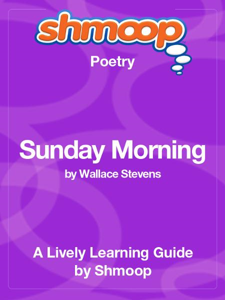 an analysis of wallace stevens poem sunday morning