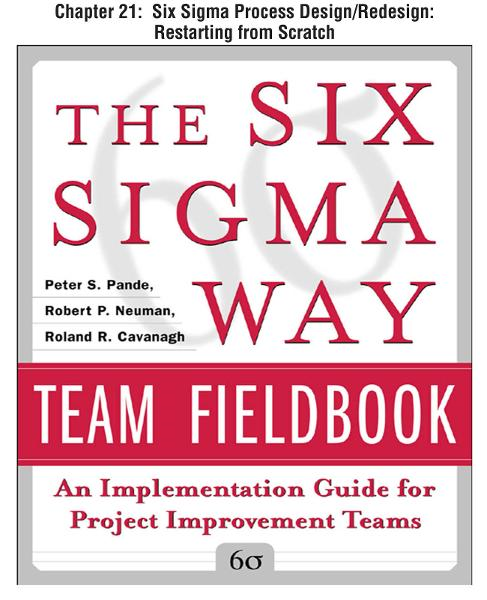The Six Sigma Way Team Fieldbook, Chapter 21 - Six Sigma Process Design/Redesign Restarting from Scratch