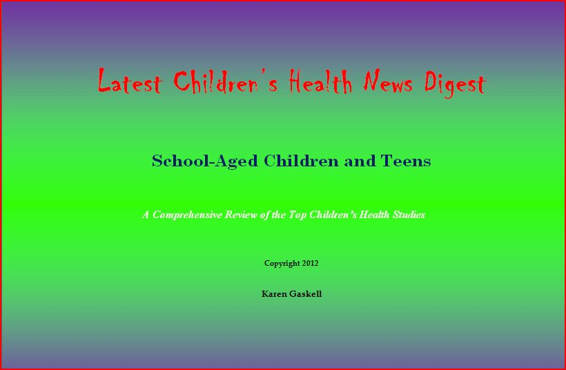Latest Childrens Health News Digest