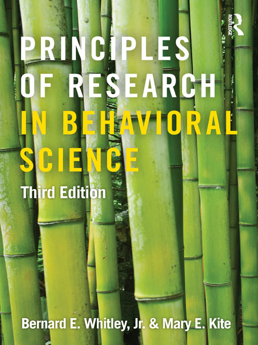 Principles of Research in Behavioral Science
