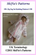 online magazine -  198 - Zig Zag Matinee Jacket Baby Knitting Pattern #198