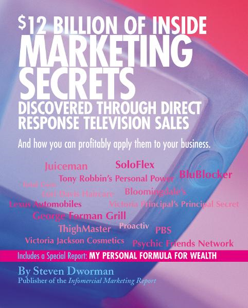 $12 Billion of Inside Marketing Secrets Discovered Through Direct Response Television Sales By: Steven Dworman