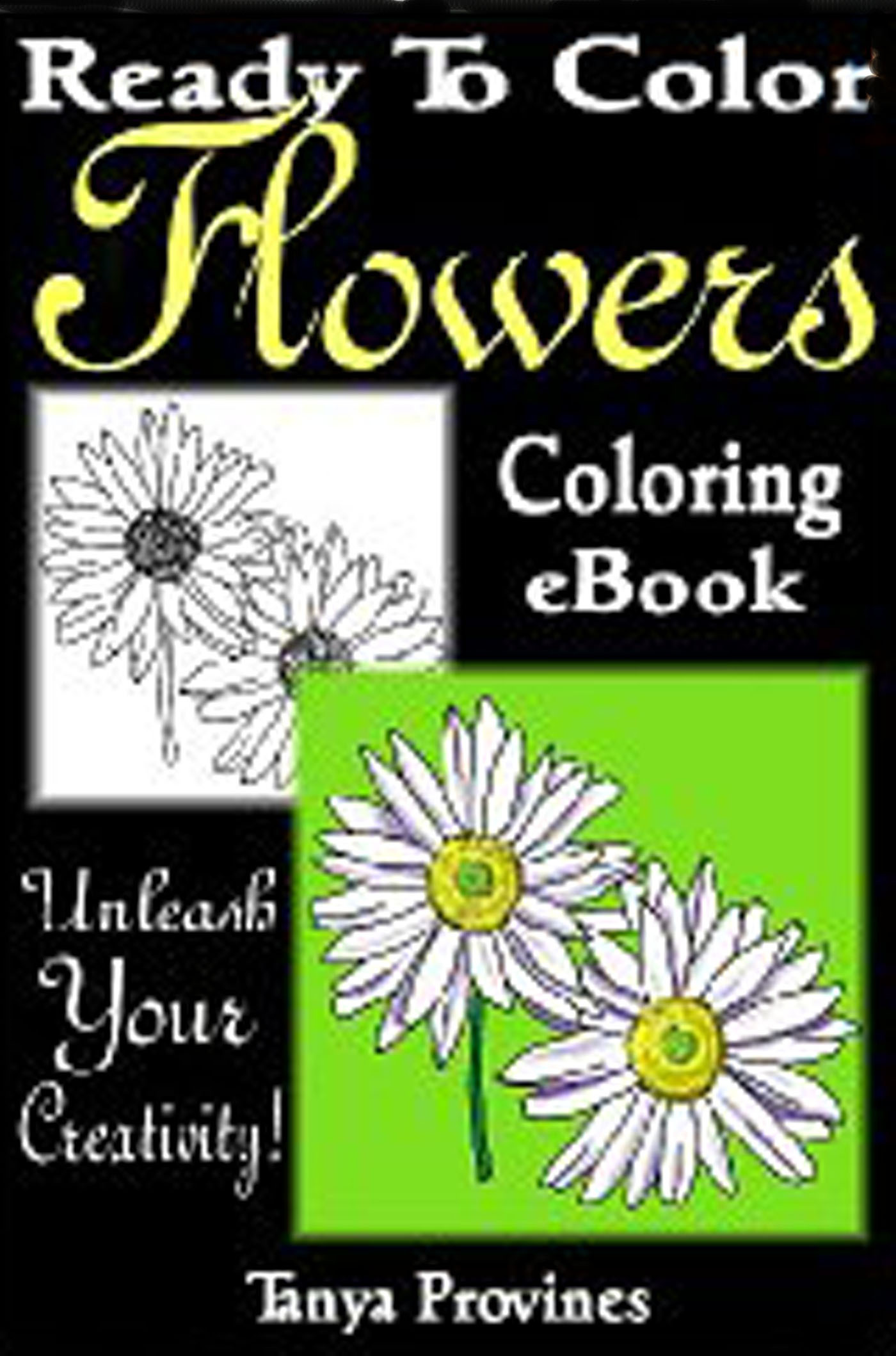 Ready To Color Flowers Coloring eBook