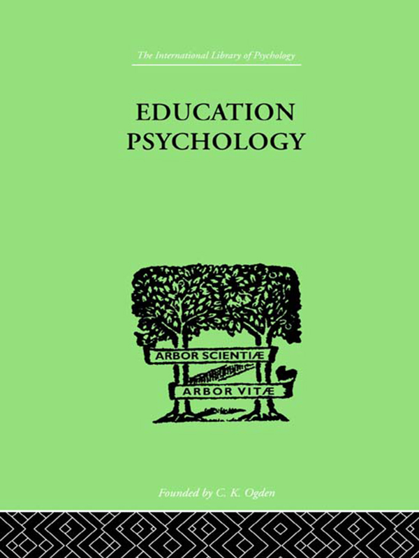 Education Psychology BRIEFER COURSE