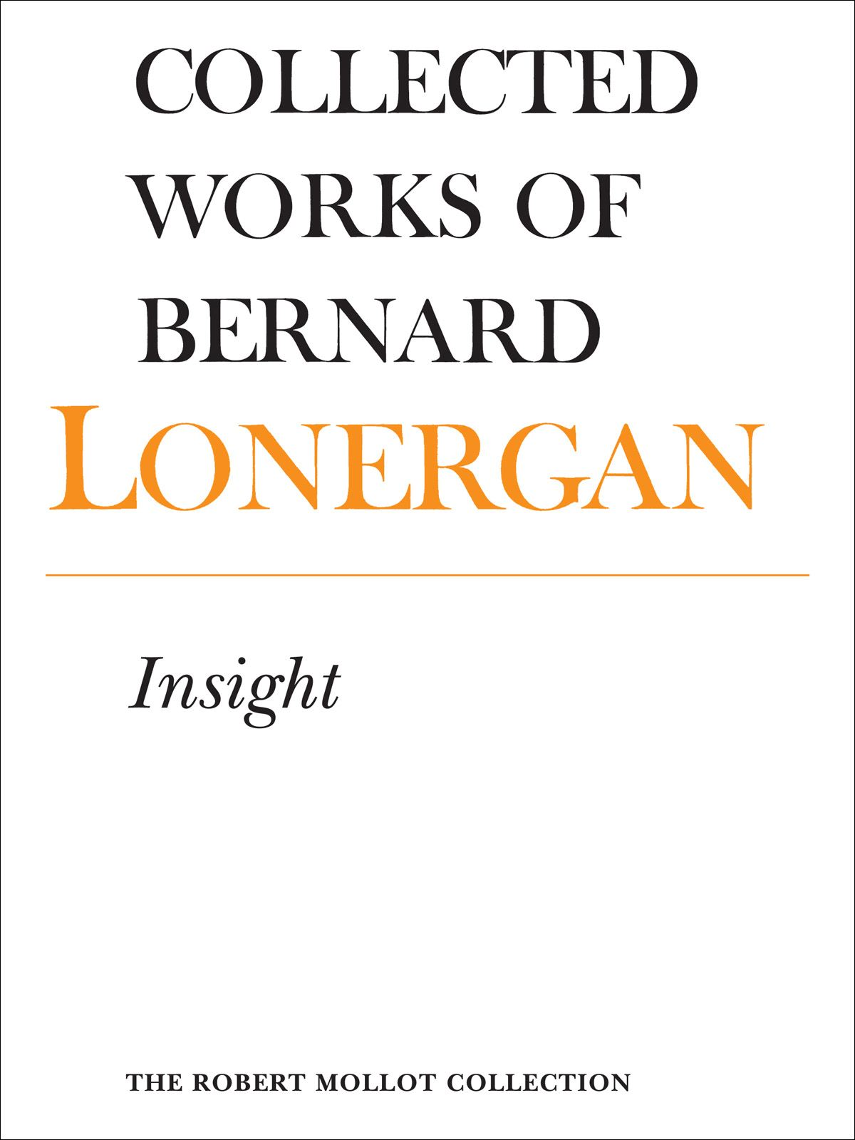 Insight By: Bernard Lonergan