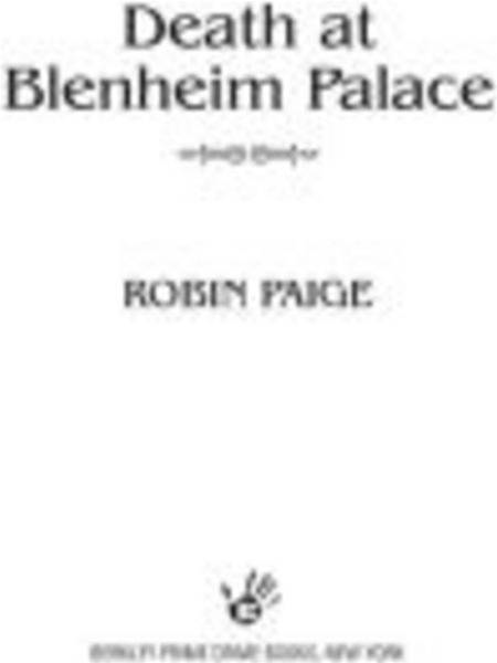 Death at Blenheim Palace By: Robin Paige