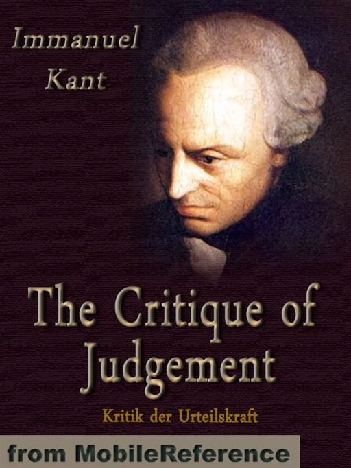 The Critique Of Judgement  (Mobi Classics)